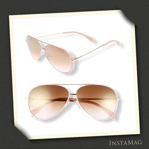 MOSCHINO Lighweight Aviator Sunglasses